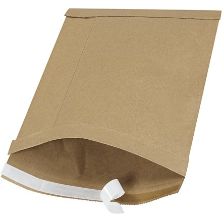 "Padded Mailers, #4, 9 1/2 x 14 1/2"", Kraft, Self-Seal"