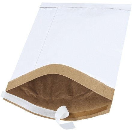 "Padded Mailers, #4, 9 1/2 x 14 1/2"", White, Self-Seal"