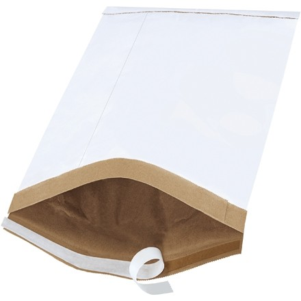 "Padded Mailers, #5, 10 1/2 x 16"", White, Self-Seal"