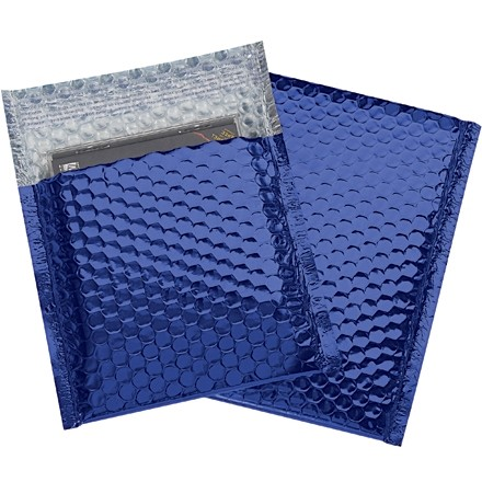 Glamour Bubble Mailers, Blue, 7 x 6 3/4""