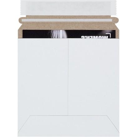 "Flat Mailers, Self-Seal, 6 x 6"", White"