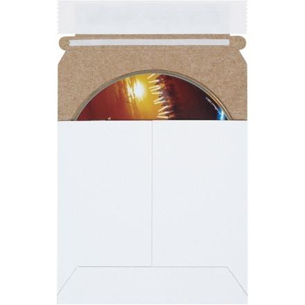 "Flat Mailers, Self-Seal, 5 1/8 x 5 1/8"", White"