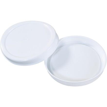 "Plastic End Caps For Tubes, 4"", White"