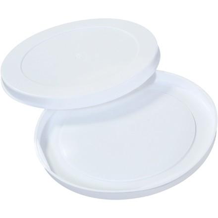 "Plastic End Caps For Tubes, 10"", White"