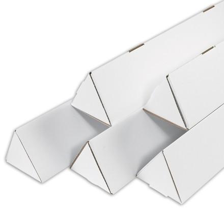 "Mailing Tubes, Triangle, White, 3 x 18 1/4"""