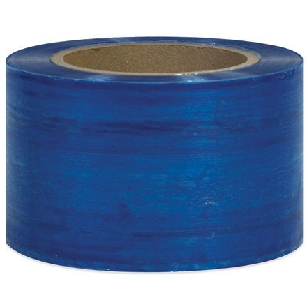 "Blue Bundling Stretch Film, 80 Gauge, 3"" x 1000"