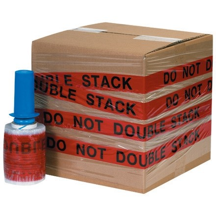 """DO NOT DOUBLE STACK"" Goodwrappers® Identi-Wrap, 80 Gauge, 5"" x 500"