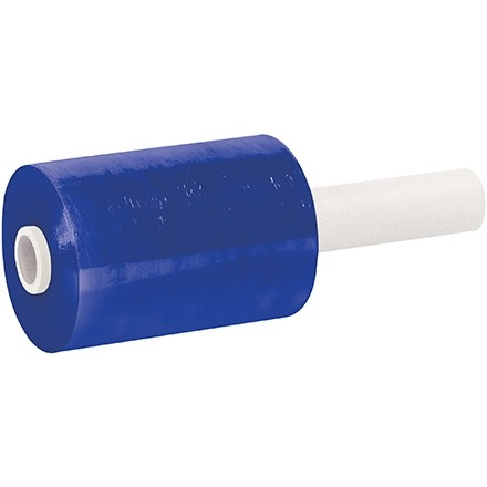 "Blue Extended Core Bundling Hand Stretch Film, 80 Gauge, 5"" x 1000"