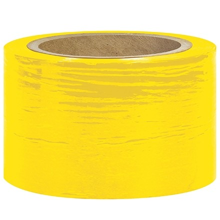 "Yellow Bundling Stretch Film, 80 Gauge, 5"" x 1000"