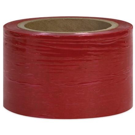 "Red Bundling Stretch Film, 80 Gauge, 5"" x 1000"