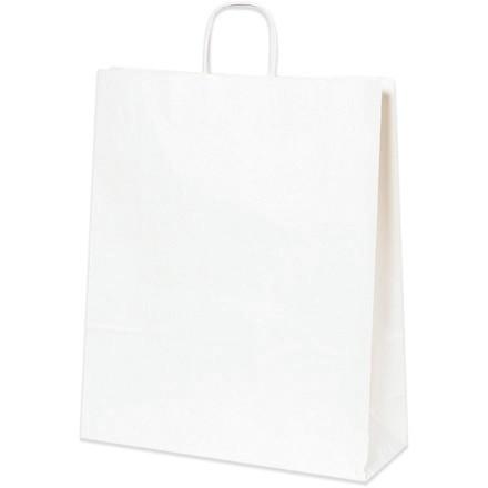 "White Paper Shopping Bags, Queen - 16 x 6 x 19 1/4"""