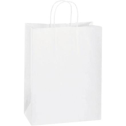 "White Paper Shopping Bags, Debbie - 10 x 5 x 13"""