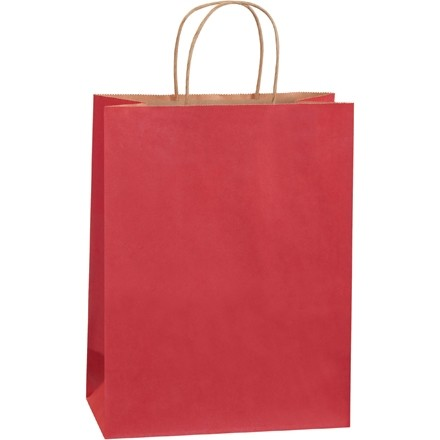 """Scarlet Tinted Paper Shopping Bags, Debbie - 10 x 5 x 13"""""""