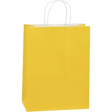 """Buttercup Tinted Paper Shopping Bags, Debbie - 10 x 5 x 13"""""""