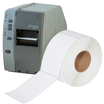 """White Industrial Direct Thermal Labels, 4 x 6 1/2"""""""