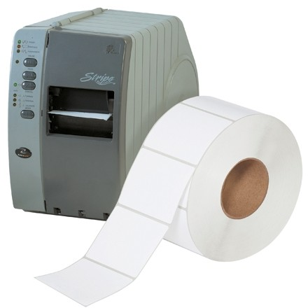 """White Industrial Direct Thermal Labels, 4 x 3"""""""