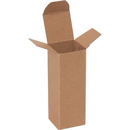 "Chipboard Boxes, Folding Cartons, Reverse Tuck, 1 1/2 x 1 1/2 x 4"", Kraft"