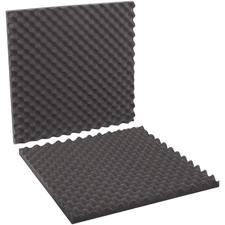 """Charcoal Convoluted Foam Sets - 24 x 24 x 2"""" , 2 Sheets Per Set"""