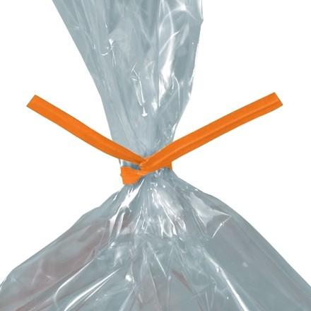 """Paper Twist Ties, Orange, Pre-Cut, 4 x 5/32"""""""