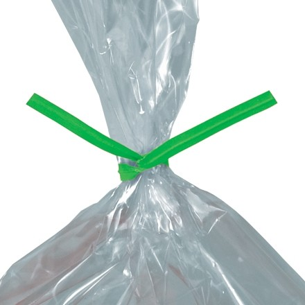 """Paper Twist Ties, Green, Pre-Cut, 7 x 5/32"""""""