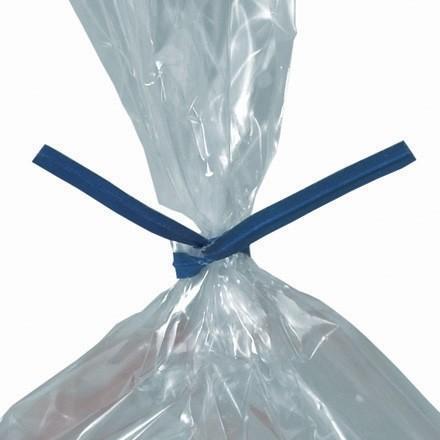 """Paper Twist Ties, Blue, Pre-Cut, 4 x 5/32"""""""