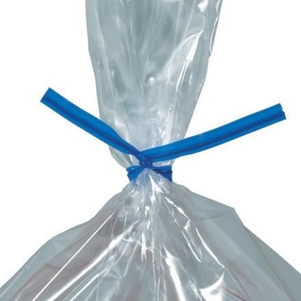 """Plastic Twist Ties, Blue, Pre-Cut, 6 x 5/32"""""""