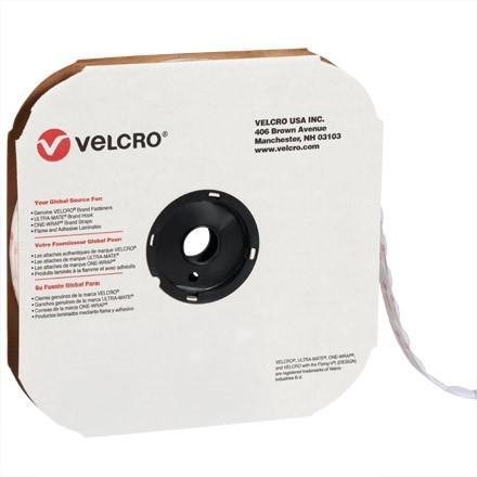 """VELCRO® Hook and Loop, Dots, Loop, 7/8"""", White"""