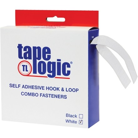 "Hook and Loop, Combo Pack, Strips, 1"" x 15', White"