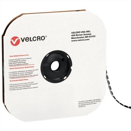 """VELCRO® Hook and Loop, Dots, Loop, 3/8"""", Black"""