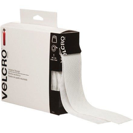 """VELCRO® Hook and Loop, Combo Pack, Strips, 2"""" x 15', White"""