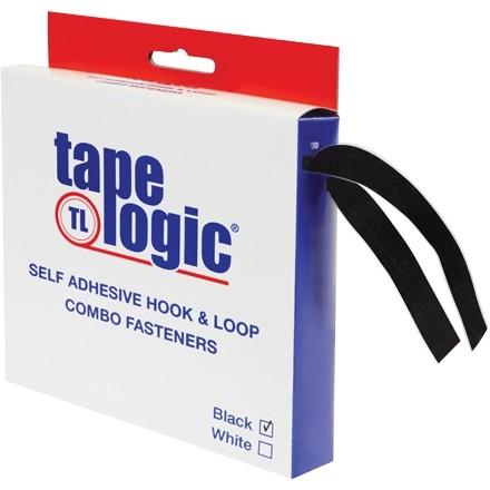 "Hook and Loop, Combo Pack, Strips, 1"" x 15', Black"