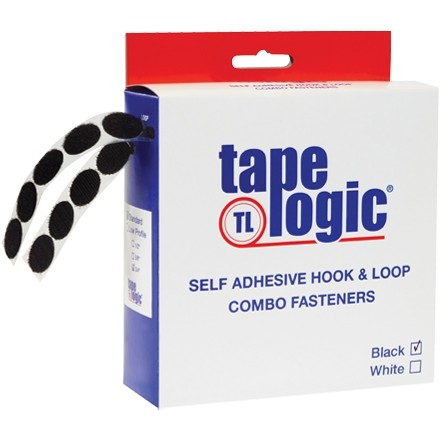 "Hook and Loop, Combo Pack, Dots, 1/2"", Black"