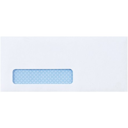 Business Envelopes with Window, #10, Self-Seal, 4 1/8 x 9 1/2""