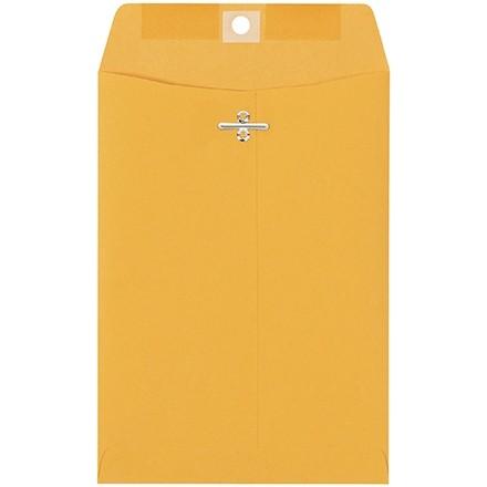 "Clasp Envelopes, Kraft, 6 x 9"""