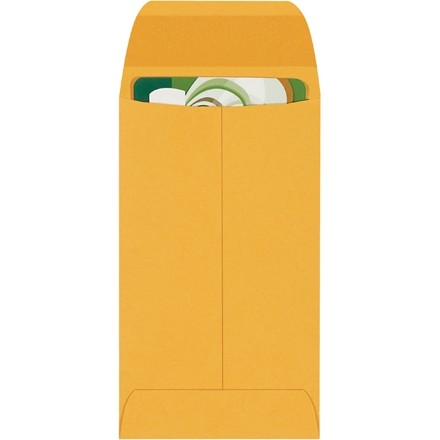 """Gummed Envelopes, Kraft, 2 1/2 x 4 1/4"""""""
