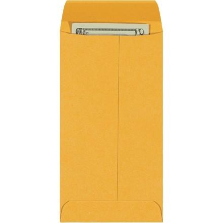 """Gummed Envelopes, Kraft, 3 1/2 x 6 1/2"""""""