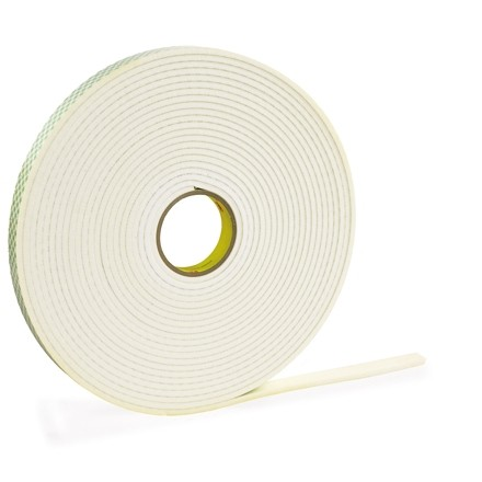"""3M 4466 Double Sided Foam Tape, 1/16"""" Thick - 1/2"""" x 36 yds."""