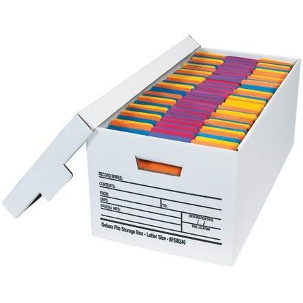 "Quick File Storage Boxes, 24 x 12 x 10"""