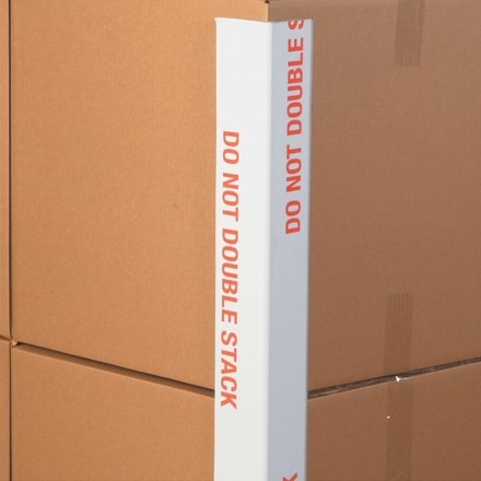 "Medium Duty"" Do Not Double Stack"" Edge Protectors - .160"" Thick, 2 x 2 x 36"" (Skid Lot)"
