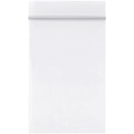 """Reclosable Poly Bags, 2 x 3"""", 2 Mil, White"""