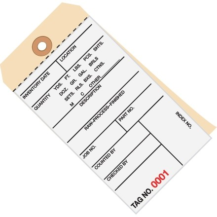 Inventory Tags - 2-Part Carbonless (5000-5499), 6 1/4 x 3 1/8""