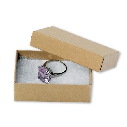 "Chipboard Boxes, Gift, Jewelry, Kraft, 2 1/2 x 1 1/2 x 7/8"""