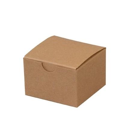 "Chipboard Boxes, Gift, Kraft, 3 x 3 x 2"""