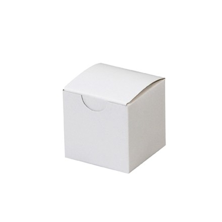 Chipboard Boxes, Gift, White, 2 x 2 x 2""