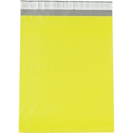 Poly Mailers, Yellow, 12 x 15 1/2""