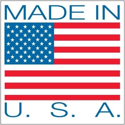 """"""" Made In U.S.A."""" Labels, 4 x 4"""""""