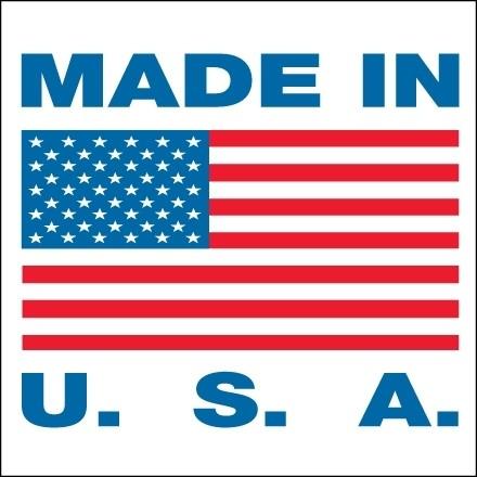 """"""" Made In U.S.A."""" Labels, 1 x 1"""""""
