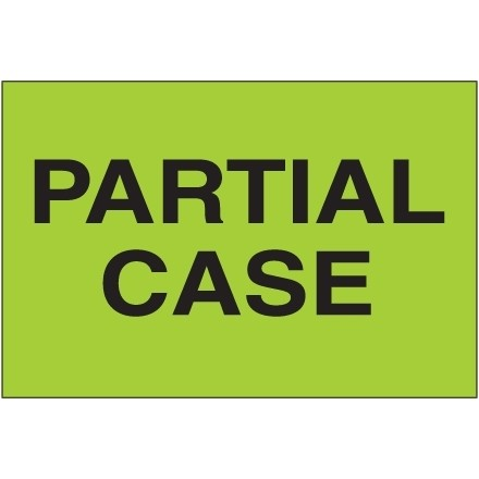 """ Partial Case"" Green Labels, 2 x 3"""