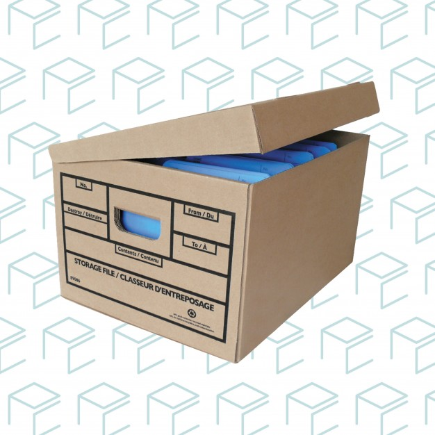 Storage and File Boxes with Attached Lid - 25 Pack