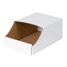 Corrugated Stackable Bin Boxes, 8 x 12 x 4 1/2""